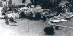 Photo of Hanslope Park in 1945.